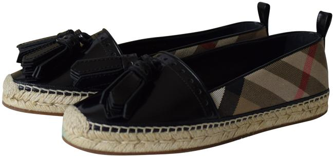 Item - Hodgeson Tesseled Leather/Canvas Check Espadrilles Flats Size US 9.5 Regular (M, B)