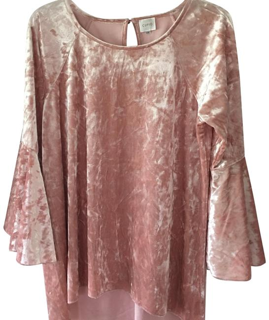 Preload https://img-static.tradesy.com/item/23679725/cupio-pale-pink-crushed-velvet-blouse-size-12-l-0-1-650-650.jpg
