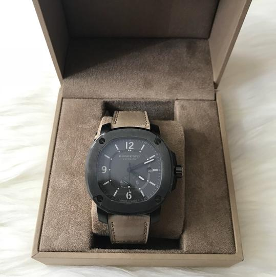 Burberry NWT Men The Britain Automatic Power Reserve Alligator Leather BBY1000