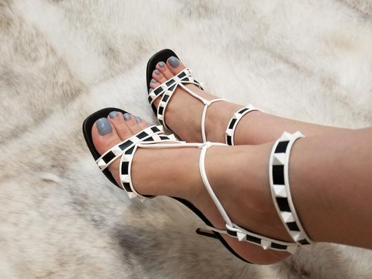 Valentino Black & Whithe details Sandals