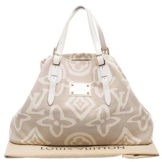 Louis Vuitton Canvas Tote in Beige
