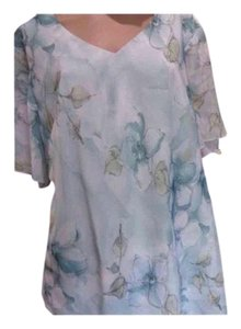 Kathy Roberts Top and Skirt Soft Watercolor Blue