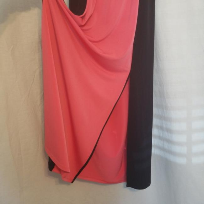 fuchsia & black colorblock Maxi Dress by Kenneth Cole