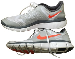Nike white, light gray, orange Athletic
