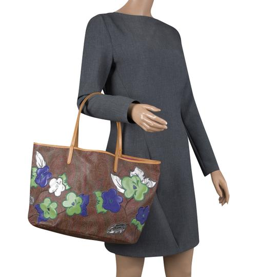 Etro Paisley Canvas Tote in Brown