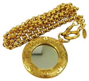 Chanel CHANEL Gold Medallion Pendant