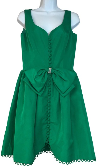 Preload https://img-static.tradesy.com/item/23679925/emerald-green-vintage-cocktail-short-night-out-dress-size-8-m-0-1-650-650.jpg