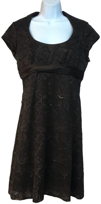 Preload https://img-static.tradesy.com/item/23679936/badgley-mischka-dark-brown-embellished-lace-short-night-out-dress-size-8-m-0-1-650-650.jpg