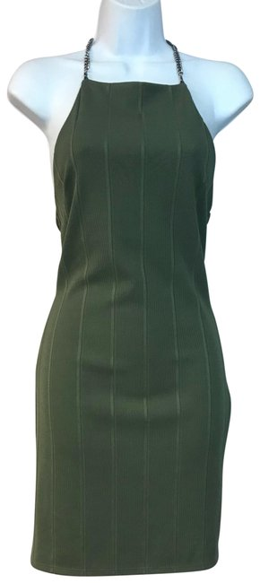 Preload https://img-static.tradesy.com/item/23679945/topshop-dark-green-chain-straps-poly-blend-short-night-out-dress-size-6-s-0-1-650-650.jpg