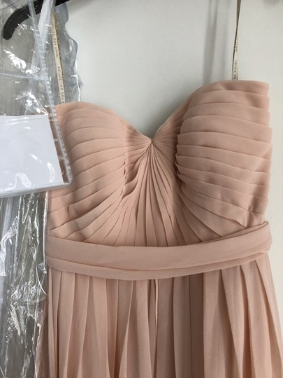 Jenny Yoo Blush Chiffon Formal Bridesmaid/Mob Dress Size 6 (S)