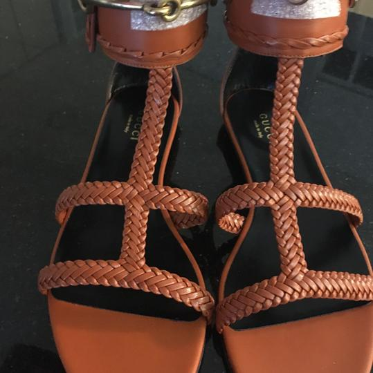 Gucci Bitt Orange Sandals
