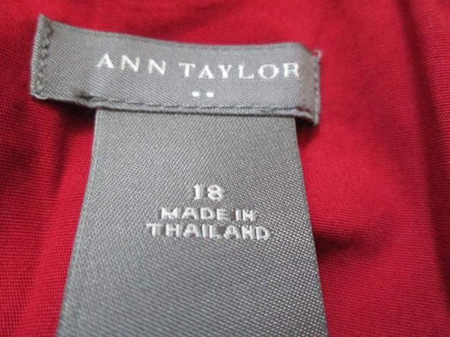 Ann Taylor Spring Summer Flowy Formal Cotton Top Red