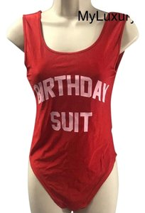Birthday Suit Top Red