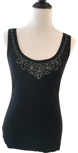 Wet Seal Tee Shirt Camisole Beaded Top Black