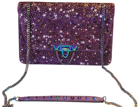 Preload https://img-static.tradesy.com/item/23680005/deep-pink-leather-and-crystal-shoulder-bag-0-1-540-540.jpg