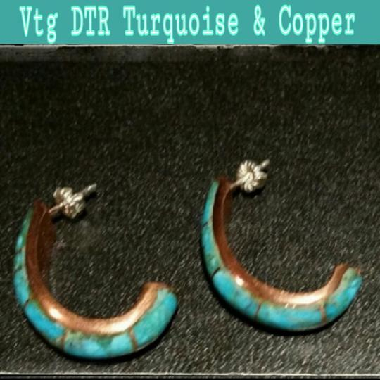 DTR Vtg DTR Turquoise & Copper Earrings