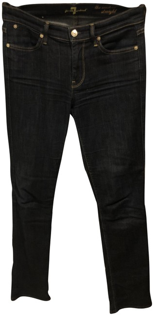 Preload https://img-static.tradesy.com/item/23680054/7-for-all-mankind-dark-blue-rinse-modern-straight-leg-jeans-size-27-4-s-0-1-650-650.jpg