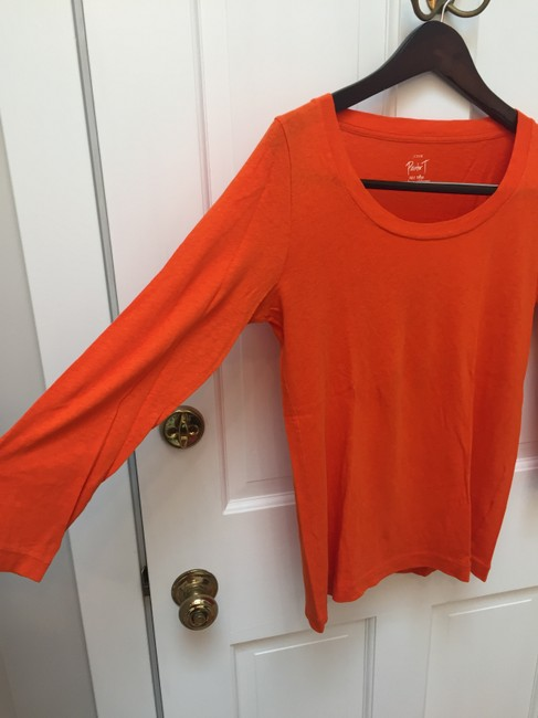 J.Crew Painter T Pumpkin Bright T Shirt Orange