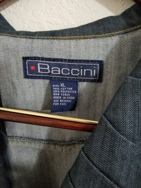 Baccini Blue Denim Blazer