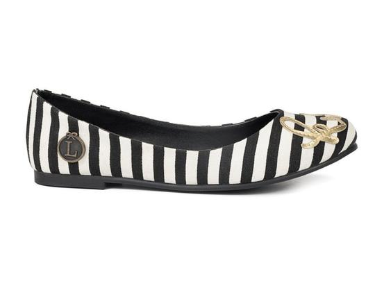 Loly in the sky Black and pearl Flats
