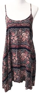 Free People short dress Navy Berry Shapeless Mini Open Back Sheer on Tradesy