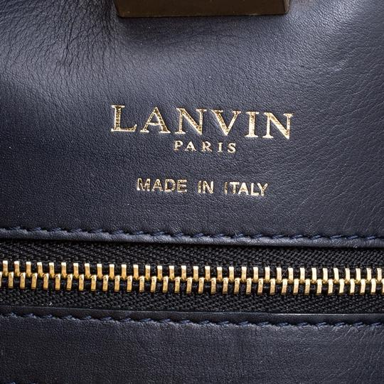 Lanvin Leather Flat Tote in Yellow