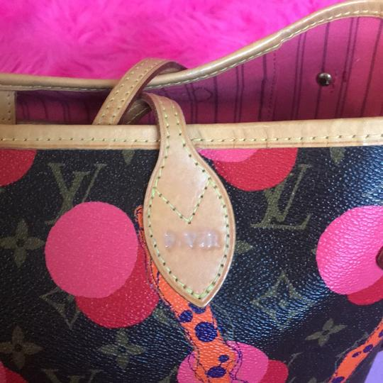 Louis Vuitton Ebene Speedy Sold Out Azur Damier Tote in Red Coral Pink Monogram