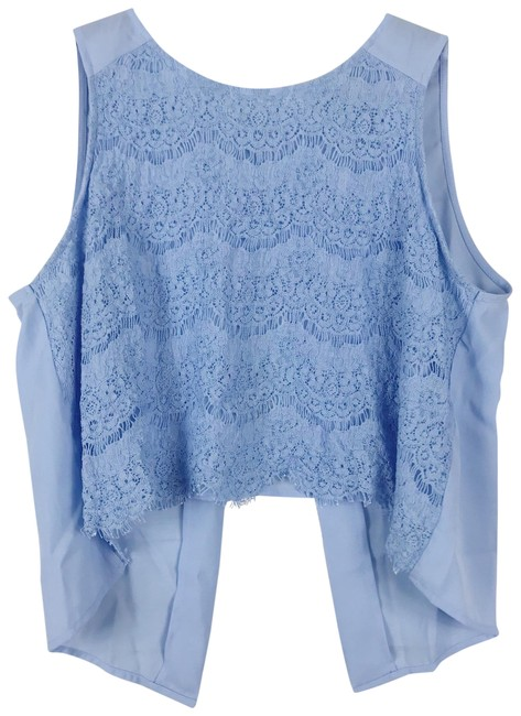 Preload https://img-static.tradesy.com/item/23680348/forever-21-light-blue-lace-overlay-open-back-blouse-size-8-m-0-1-650-650.jpg