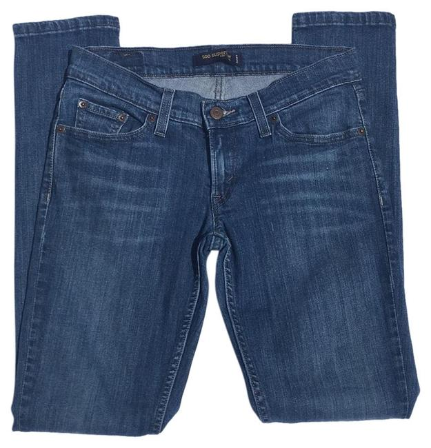 Item - Blue Distressed Too Superlow 524 5m Flap Pockets Low Rise Skinny Jeans Size 28 (4, S)