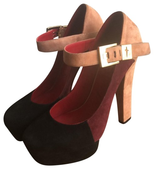 Preload https://img-static.tradesy.com/item/23680417/cesare-paciotti-taupe-burgundy-black-pg463710-platforms-size-eu-385-approx-us-85-regular-m-b-0-1-540-540.jpg