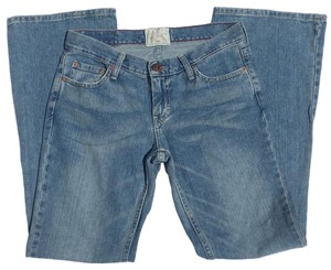 American Eagle Outfitters Hipster Low Rise Flare Leg Jeans-Distressed