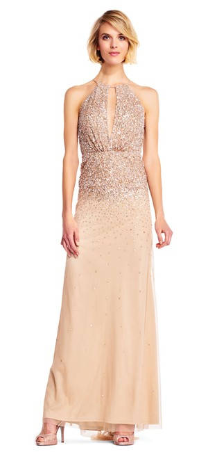 Preload https://img-static.tradesy.com/item/23680442/adrianna-papell-champagne-keyhole-long-formal-dress-size-4-s-0-0-650-650.jpg