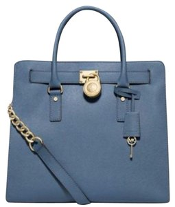 Michael Kors North South Convertible Heritage Royal Light Tote in Cornflower Blue