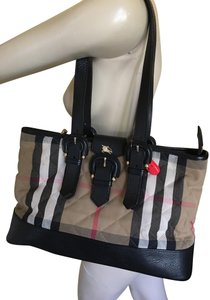 Burberry Tote in Black and Check