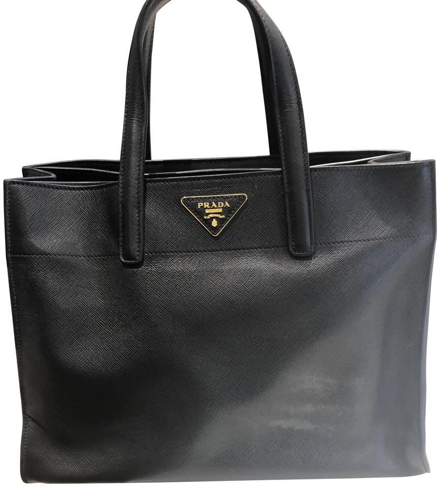 Prada Black Leather Tote - Tradesy 79f58a21ec