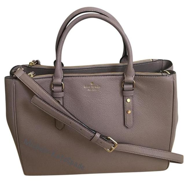 Item - Mulberry Street Porcini Leighann Wkru3927 Gray Leather Tote