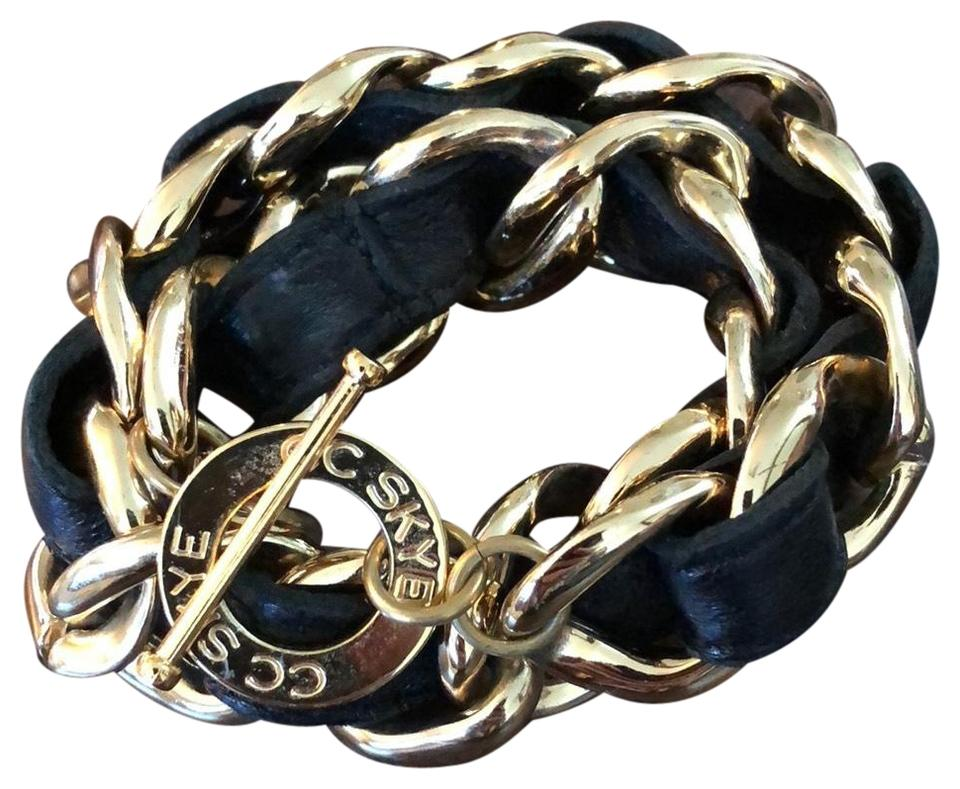 Cc Skye Black Gold Chain Bracelet