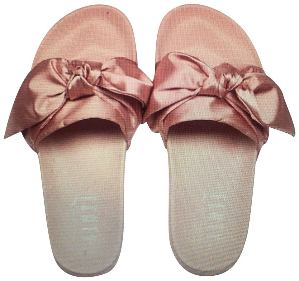 FENTY PUMA by Rihanna Pink Bow Women s Slide Sandals Size US 7.5 ... cc1f285a42