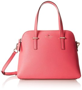 Kate Spade Pxru4471 Cedar Street Small Maise Crosshatched Leather Satchel in Cabernet Pink