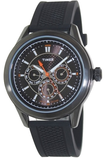 Timex Timex Male Multifunction T2P179 Black Analog Watch