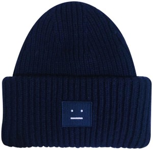 Acne Studios Acne Studios Pansy Wool Knit Hat in Navy | Thick & Great for Winter