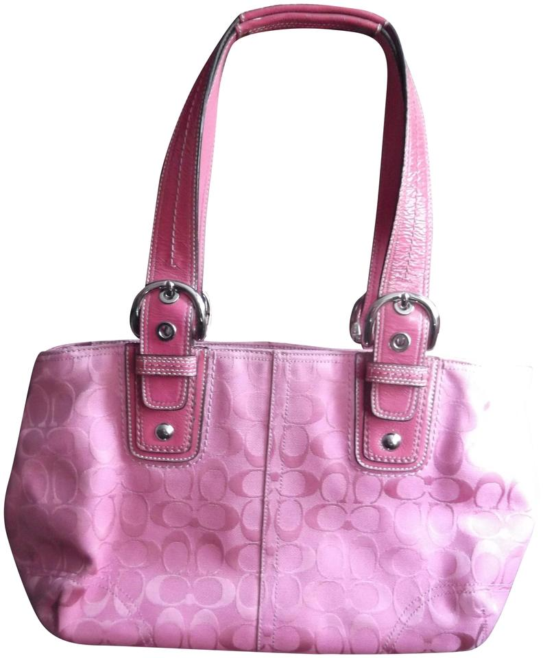 100% satisfaction bright in luster sophisticated technologies Coach Soho Classic Signature Monogram Purse Pink Fabric Leather Shoulder  Bag 79% off retail