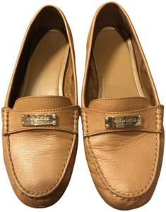 Coach Loafers Leather Tan Flats