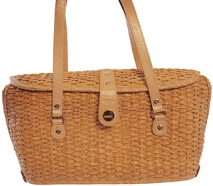 Kate Spade Wicker Tote Straw Tote Straps Picnic Shoulder Bag