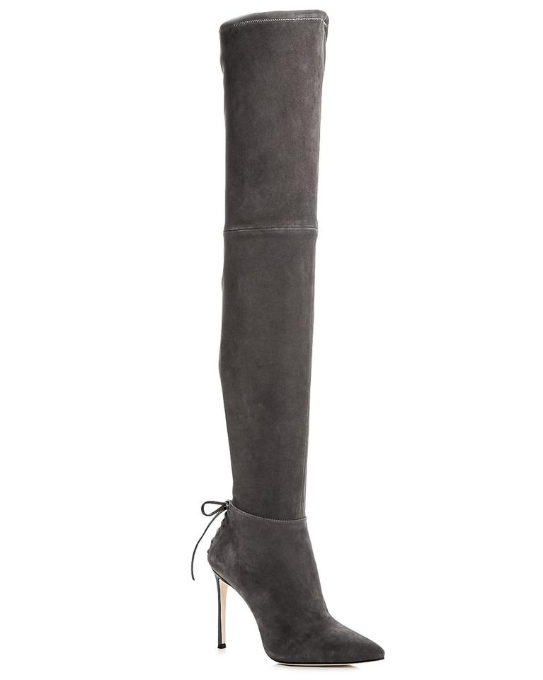 Pour La Victoire Grey Caterina Over (M1) The Knee High Heel (M1) Over Boots/Booties d27bcd