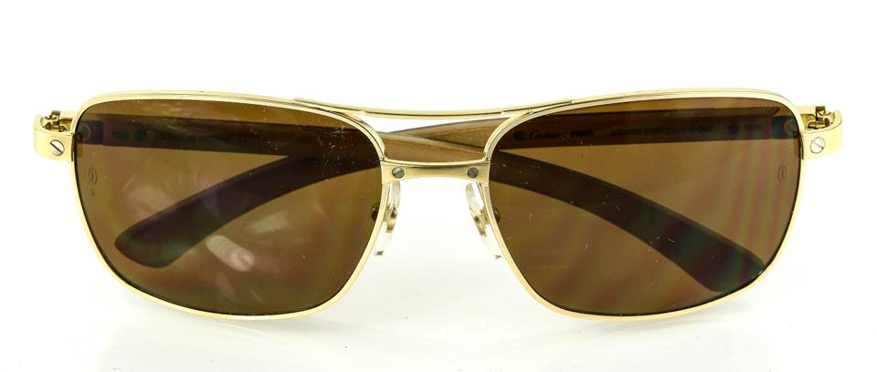 bb44955edcc2c Cartier   Gold Edition Santos Dumont Sunglasses - Tradesy