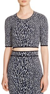 BCBGMAXAZRIA Cheetah Print Jacquard Stretchy Crop Top