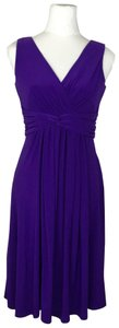 Chaps short dress Purple on Tradesy
