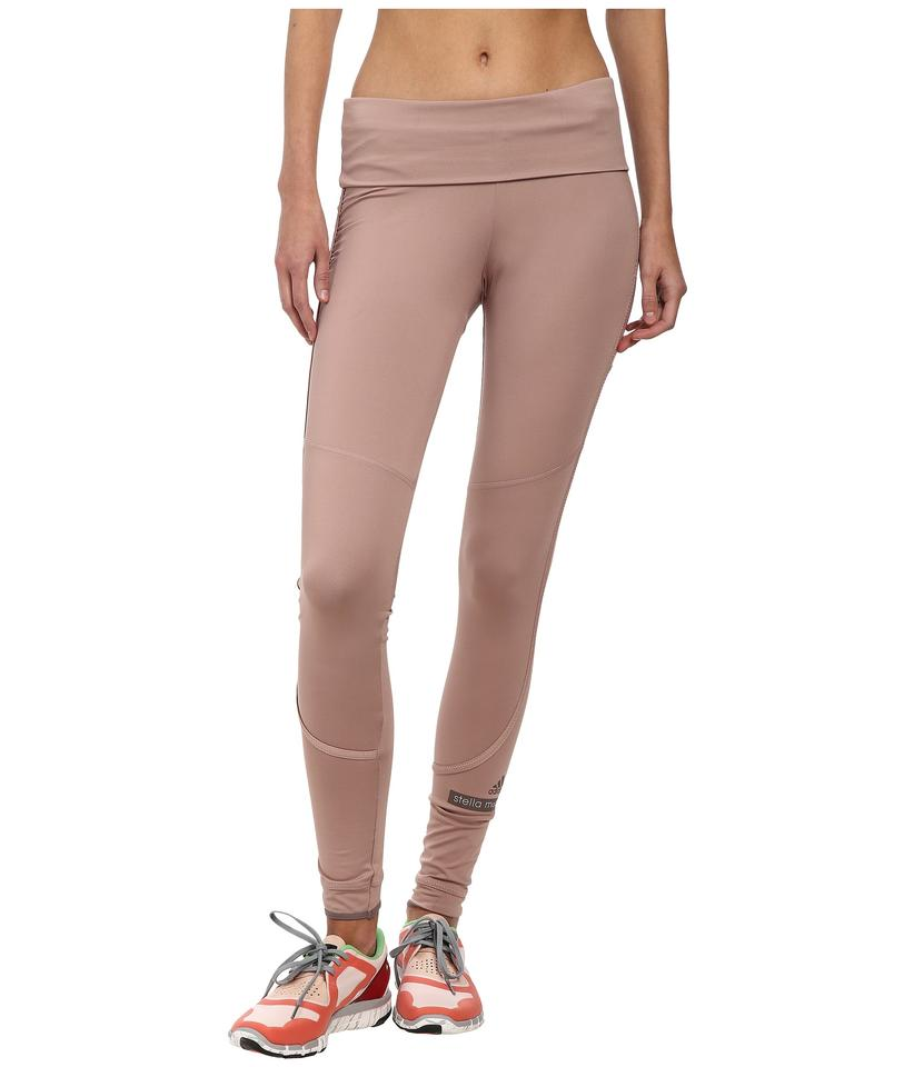 adidas By Stella McCartney Pink Women s The Performance Fold Over  Activewear Bottoms e3b3395842