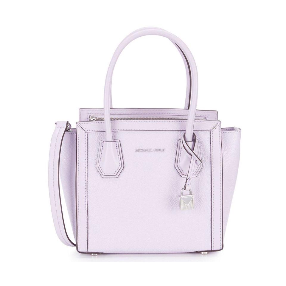 246b9257ba31 MICHAEL Michael Kors Mercer Medium Ew Light Quartz Leather Satchel ...